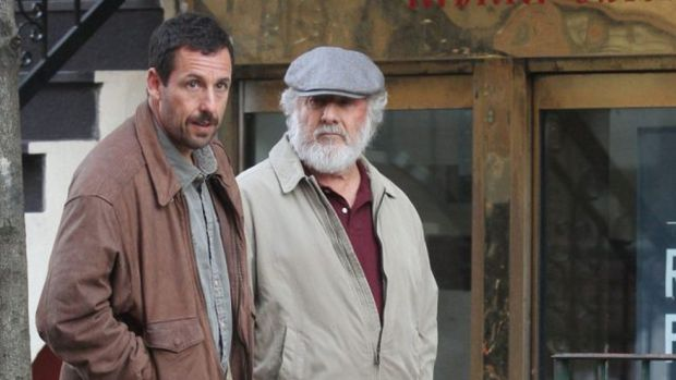 Adam Sandler and Dustin Hoffmann in The Meyerowitz Stories