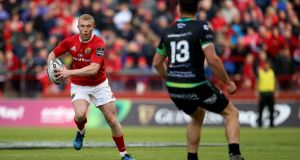 Keith Earls is expected to shake off an ankle injury and be available for Munster's Pro 12 final against Scarlets at the Aviva Stadium next Saturday. Photograph: Tommy Dickson/Inpho