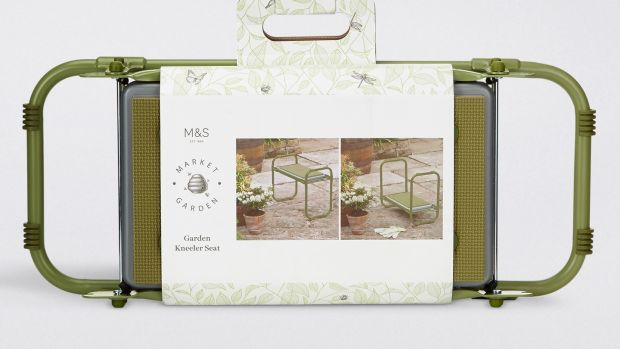 The sturdy gardening support from M&S that can be kneeled on, leaned on and sat on