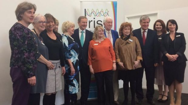Taoiseach Enda Kenny with the ICC team of volunteers.