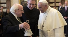 President Higgins meets with Pope Francis in the Vatican