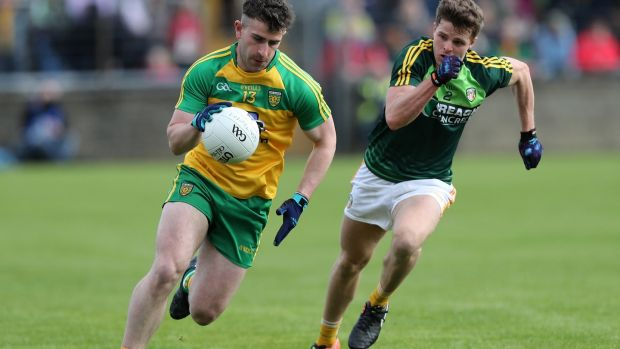 The challenge for Patrick McBrearty at the age of 23 is to try and move from being one of Donegal's most dangerous players to one of its leaders. Photograph: John McIlwaine/Presseye/Inpho