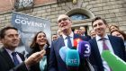 Simon Coveney   took issue with Leo Varadkar's statement that Fine Gael needs to be for people who get out of bed early in the morning, saying the party needs to represent other people too.  File photograph: Cyril Byrne