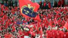 Munster fans during Saturday's  Guinness Pro12 semi-final match against the Ospreys at Thomond Park. Photograph: Niall Carson