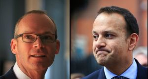 "Simon Coveney characterised Leo Varadkar's policy document as a ""list of spending commitments"". Photographs: The Irish Times"