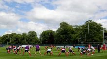General view of the warm up before training. Photo: Dan Sheridan/Inpho