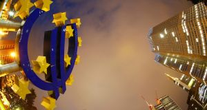 The euro climbed as high as $1.12680 to beat the previous day's high by a whisker. Photograph: Kai Pfaffenbach/Reuters