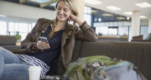Your calls and texts may cost the same abroad as at home, but beware of your data usage. Photograph: Getty Images