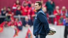 "Munster Director of Rugby Rassie Erasmus: ""I must take half of the blame because we didn't talk too much sense at half-time."" Photograph: Morgan Treacy/Inpho."