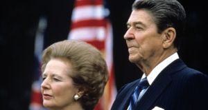 Ronald Reagan and Margaret Thatcher: the connection between them secured the return of the ideal of the free market.  Photograph: Sipa Press/REX Shutterstock