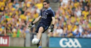 Dublin's goalkeeper Stephen Cluxton: Rule change would have affected his short kick-outs.   Photograph: Morgan Treacy/Inpho