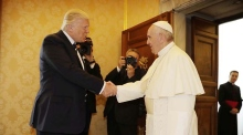 Trump meets Pope Francis at the Vatican
