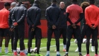 Manchester United observe moment of silence for bomb attack victims