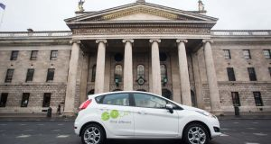 South Dublin County Council launched six GoCar car-sharing bases. GoCar allows motorists to rent out their cars to other motorists for an all-in cost that includes fuel, tax, insurance and maintenance. Photograph: Conor McCabe