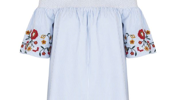 White top with embroidery €34 from Marks & Spencer.