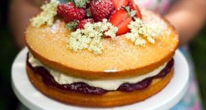 Donal Skehan: Strawberry and elderflower cake