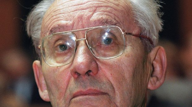 French philosopher Paul Ricoeur. Macron worked as his research assistant. Photograph: AP Photo/Keystone/Juerg Mueller