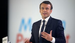 French president Emmanuel Macron. Photograph: GEOFFROY VAN DER HASSELT/AFP/Getty Images