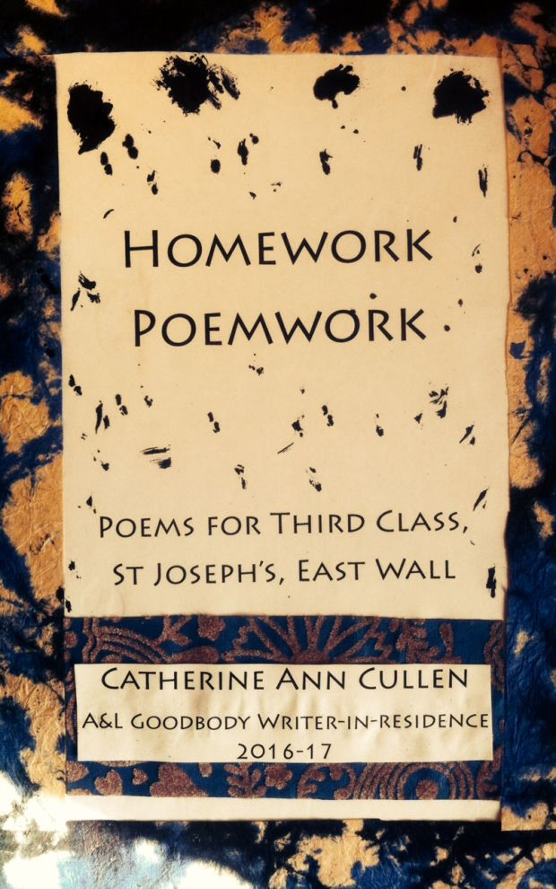 I compiled my poems for third class into a book called Homework Poemwork, which teacher Hilary Boyle tells me is the most popular book in the class library