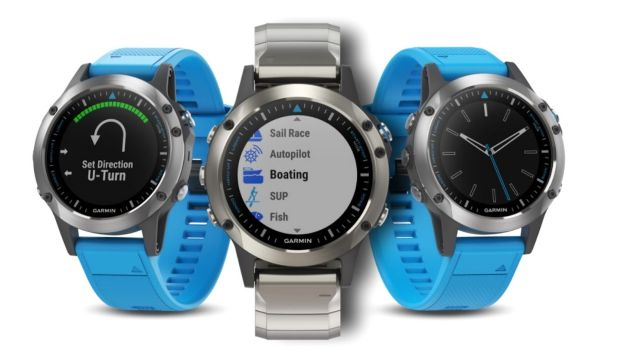 The Garmin Quatix 5 watch.