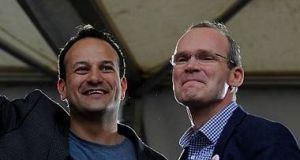 Happier times. Some small farmers in the party favour Varadkar because they believe Coveney represents big farmers more, while others feel Varadkar has been more willing to press their flesh during constituency visits