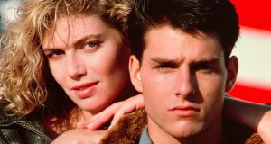 Tom Cruise and Kelly McGillis in 'Top Gun'.