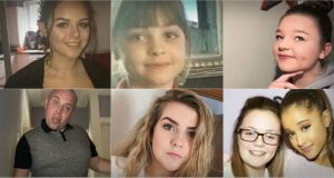 Six of the victims, clockwise from top left: Olivia Campbell (15), Saffie Rose Roussos (8), Sorrell Leczkowski (14), Georgina Callander (18) pictures with Ariana Grande, Eilidh MacLeod (14) and John Atkinson (26)