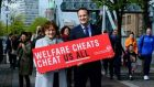 'Welfare Cheats Us All' - the slogan of Leo Varadkar's campaign to detect welfare fraud. Photograph: Cyril Byrne