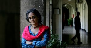 Arundhati Roy: Her new novel is at least  less ponderous than her overrated debut, 'The God of Small Things', which won the Booker Prize in 1997. Photograph: Getty Images