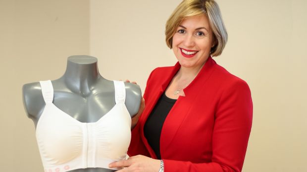 Ciara Donlon: So effective are her post-operative bras, which now sell around the world, that they have been classified as a medical device. Photograph: Dee Organ