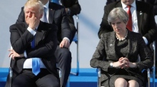 May reminds Trump that intelligence sharing 'is built on trust'