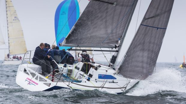 David Cullen on Checkmate XV from Howth Yacht Club will defend his ICRA national title at this year's championships in Crosshaven also on the weekend of June 9th. Photograph: David Branigan/Oceansport