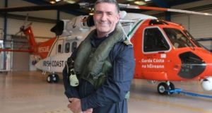 Daithí Ó Cearbhalláin's passing  occurred on the 27th anniversary of a rescue mission which he was decorated for, where he and his Air Corps colleagues assisted a fishing vessel in trouble in treacherous seas off Donegal. Photograph: Brian Arthur/ Press 22