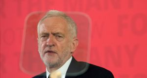 Labour Party leader Jeremy Corbyn: made speech linking the Manchester bombing to Britain's foreign wars. Photograph:  Carl Court/Getty Images
