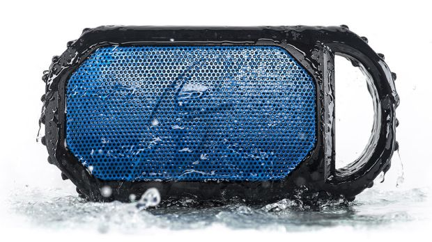 Ecostone Waterproof Portable Speaker: 100 per cent waterproof with bluetooth for wireless connection to a smartphone or MP3 player.