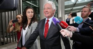 Former  Anglo Irish Bank chairman Seán FitzPatrick leaving  Dublin Circuit Criminal Court on Wednesday, after he  was acquitted on all charges  of misleading  auditors. Photograph: Collins Courts