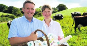 Alan and Valerie Kingston of Glenilen Farm, which has secured a €500,000 contract with Sainsbury's supermarkets in the UK.