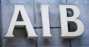 Shares in AIB declined by 6.5 per cent to €8.60 in trading in Dublin on Friday. Photograph: Leah Farrell/RollingNews.ie