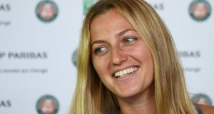 Czech Petra Kvitova has not played competitively since the attack in December, which left her with serious injuries to her left playing hand. Photograph: AFP/Getty Images