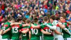 Mayo before their recent championship match against Sligo. Photograph: James Crombie/Inpho