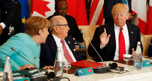Image result for photos of us meeting with us and g7