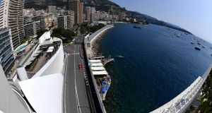 Sebastian Vettel blitzed his rivals during the final practice session for the Monaco Grand Prix. Photograph: Andrej Isakovic/AFP
