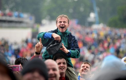 LOCAL TALENT: Fans support Otherkin at Slane Castle ahead of Guns N' Roses. Photogaph: Dara MacDonaill