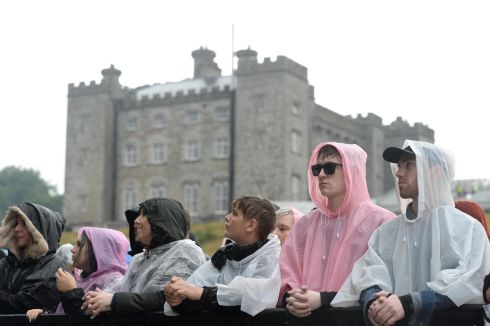 AT THE CASTLE: Waiting on local band Otherkin at Slane. Photograph: Dara Mac Donaill