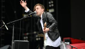 Local band Otherkin command the stage like seasoned professionals at Slane Castle. Photograph: Dara Mac Dónaill