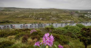 The An Post Rás goes through  Laghey in  Co Donegal. Photograph: Morgan Treacy/Inpho