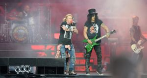 Guns N' Roses, playing at Slane Castle, Co Meath. Photograph: Dara Mac Dónaill / The Irish Times