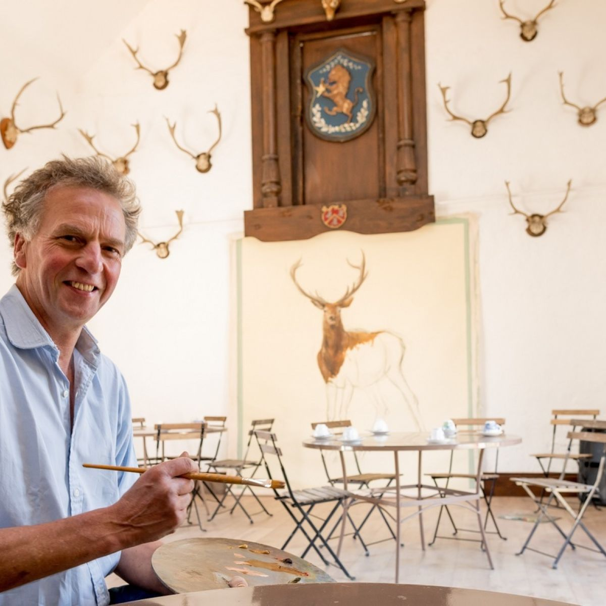 Off the wall: Irish mural artist paints castles and Caribbean cottages