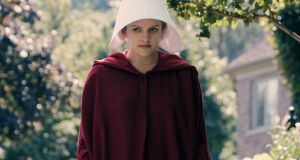 Elisabeth Moss as Offred in The Handmaid's Tale. Photograph MGM/Hulu