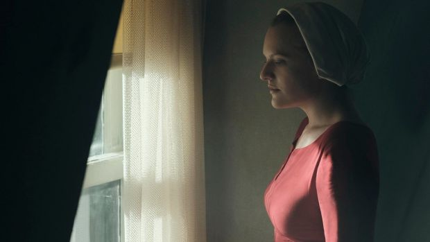 Stripped of her civil liberties and bodily autonomy. Elisabeth Moss as Offred in The Handmaid's Tale. Photograph MGM/Hulu
